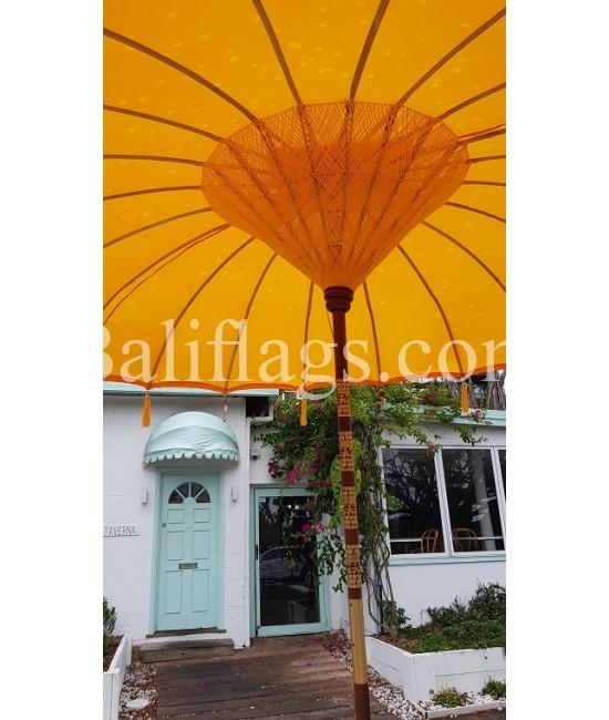 Yellow 3 metre Bali Market Umbrella