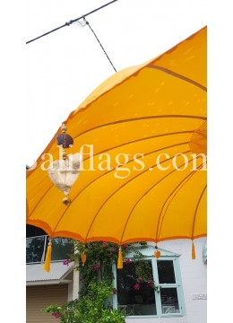 Yellow 3 metre Bali Market Umbrella