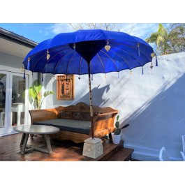 Blue Balinese Market Umbrella