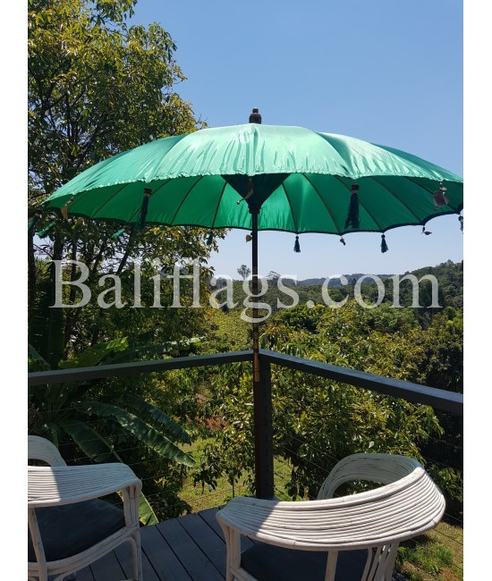 Dark Green Bali Umbrella