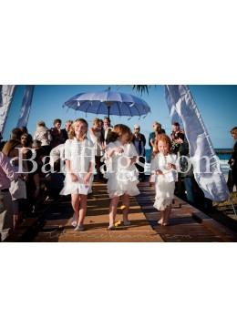 White Bali Wedding Umbrella (3 metre)