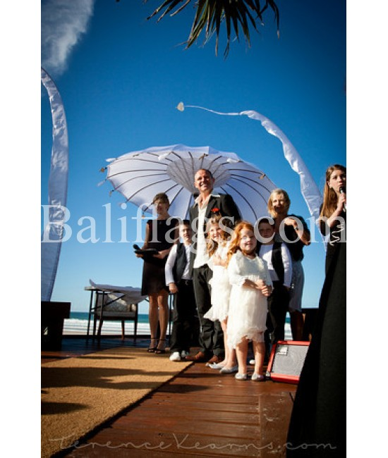 White Bali Wedding Umbrella (3 metre)