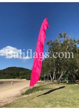 Fuchsia Feather Flag