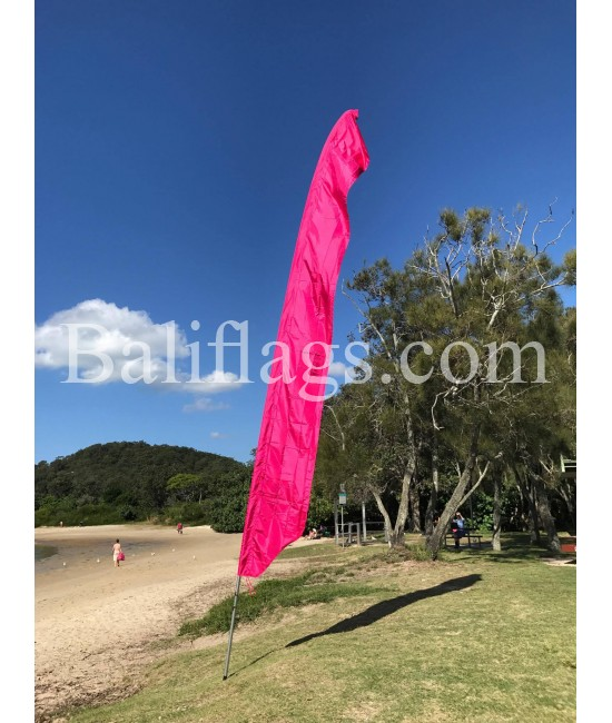 Bali Fuchsia Feather Flag