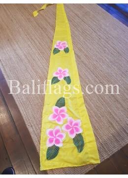 Lemon Yellow Frangipani Flag