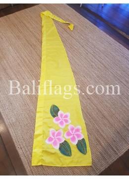 Lemon Yellow Frangipani Flag 3 flowers