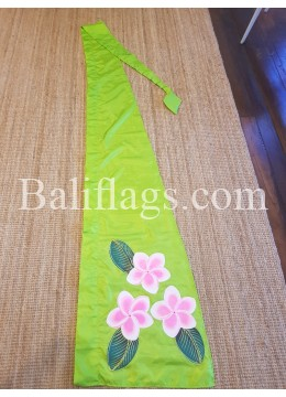 Lime Green Frangipani Flag
