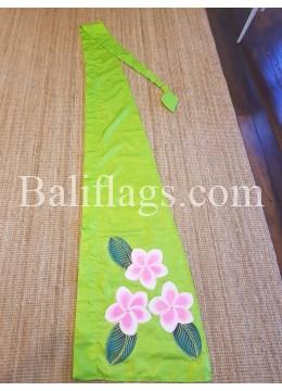 Lime Green Frangipani Flag