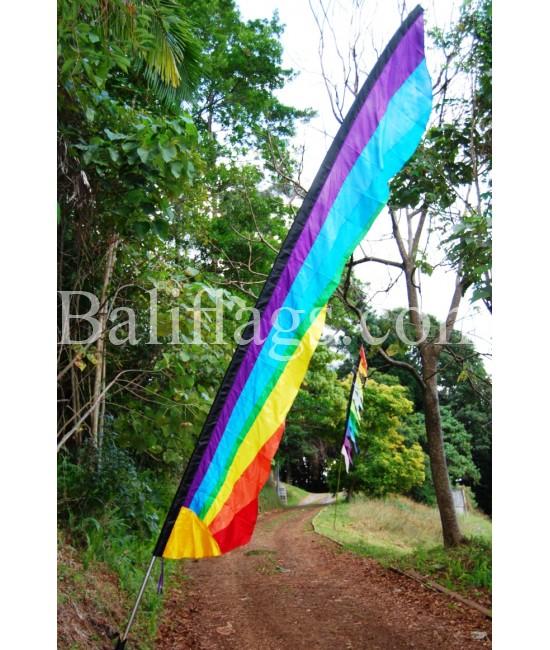 Rainbow Bali Sunrise Flag