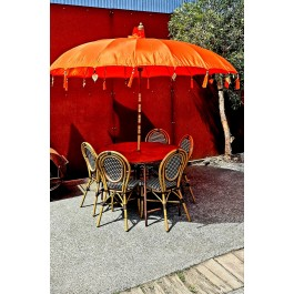 Orange Balinese Umbrella