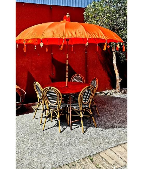 Orange Balinese Umbrella