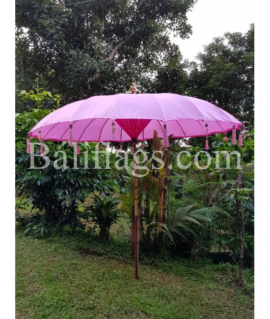 Pastel Pink Bali Large 3 metre market umbrella