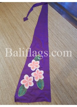 Purple Frangipani Flag