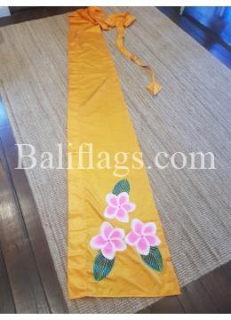 Yellow Gold Frangipani Flag