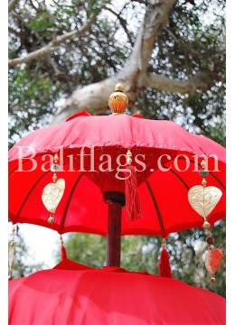 Red Triple Tier Bali Umbrella