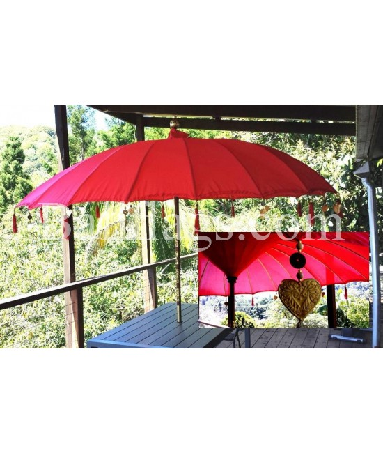 Red Bali 3 metre Market Umbrella