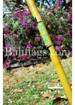 Bamboo look 5 metre Bali flag pole