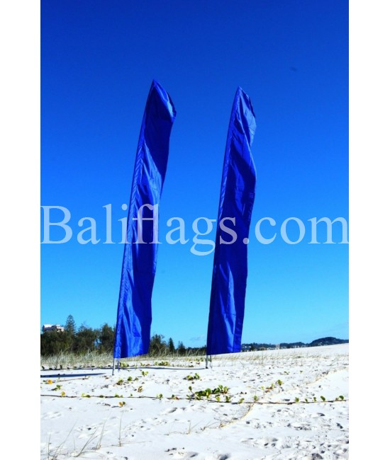 Bali Blue Feather Flag