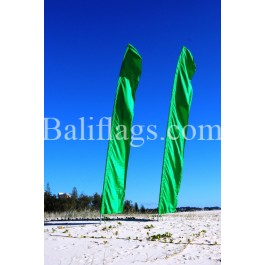 Bali Dark Green Feather Flag