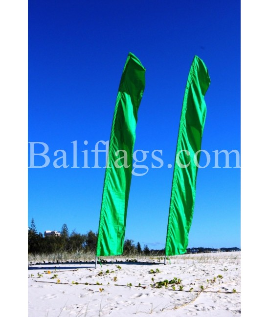 Dark Green Feather Flag