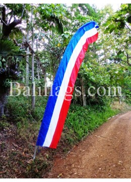 Bali French (Red White Blue) Feather Flag