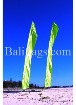 Bali Lime Green Feather Flag