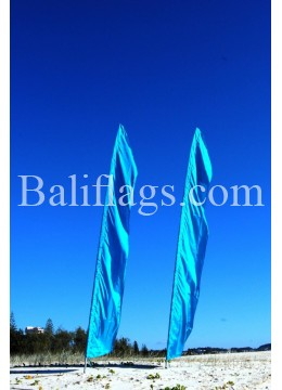 Bali Light Blue Turquoise Feather Flag