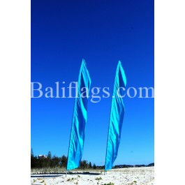 Bali Light Blue Feather Flag