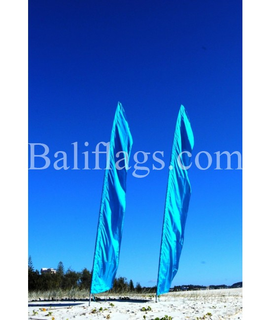 Bali Light Blue/ Turquoise Feather Flag