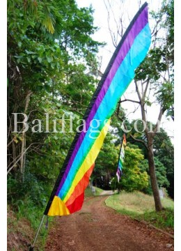 Rainbow Bali Sunrise Flag