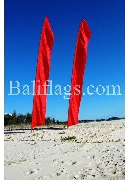 Bali Red Feather Flag
