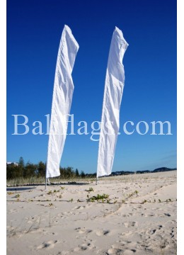 "Bali White Feather Wedding Flag ""Sale On Now"""