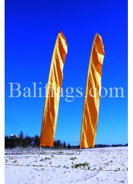 Yellow Gold Feather Flag