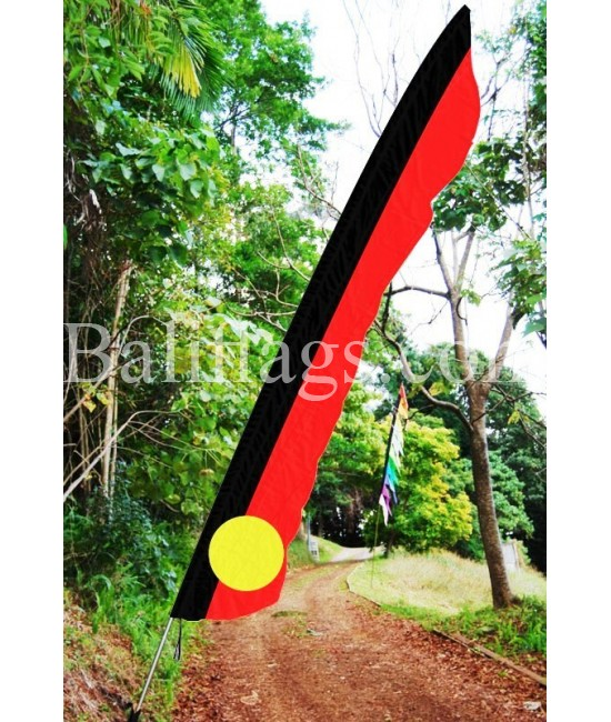 Indigenous Style Feather Flag