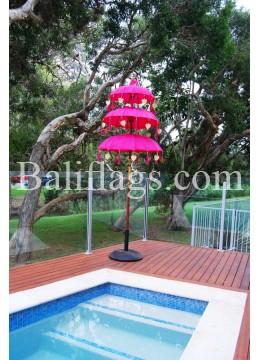 Bali Triple Tier Fuchsia Umbrella