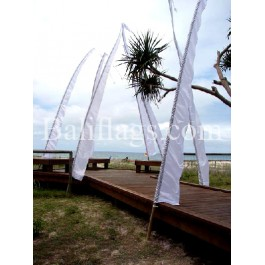 Bali White Wedding Flags (10)