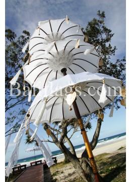 Wedding Umbrella Triple Tiered White