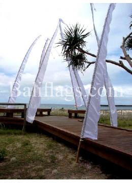 """White Bali Wedding Flag """"Sale on Now"""""""