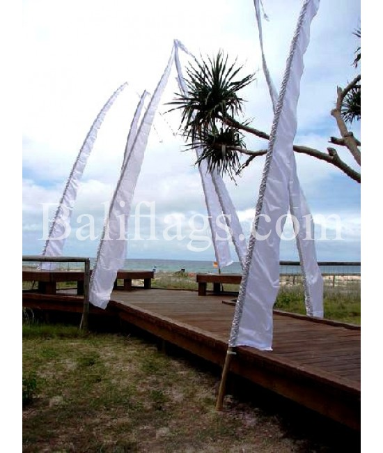 "White Bali Wedding Flag ""Sale on Now"""